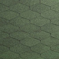 Битумная черепица Diamant PLUS (Диаманд ПЛЮС) Амазонка зеленая