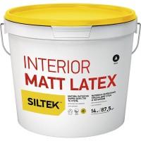 Краска Siltek Interior Matt Latex латексная матовая для стен и потолка. База А, 1,4 кг / 7 кг / 14 кг