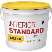 Краска Siltek Interior Standard глубокоматовая. База А, 1,4 кг / 7 кг / 14 кг