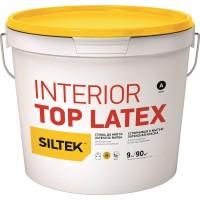 Краска Siltek Interior Top Latex латексная устойчивая к мытью. База С, 0,9 л / 4,5 л / 9 л