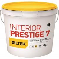Краска Siltek Interior Prestige 7 латексная шелковисто-матовая. База А, 0,9 л / 4,5 л / 9 л