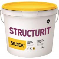 Краска Siltek Structurit латексная структурная. База ТС, 7 кг / 14 кг