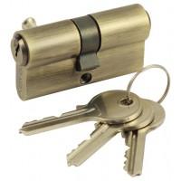 Цилиндровый механизм R600/60 mm (25+10+25) AB бронза 5 кл.