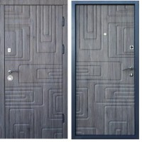 "Двери входные Steel Art ""Акцент Лайт"" Квадра Дуб англ."
