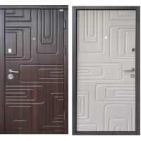 """Двери входные Steel Art """"Акцент new"""" Квадра орех"""