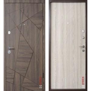 """Дверь в квартиру """"Aztec"""" Дуб Галифакс шоколадный /Дуб Галифакс белый"""