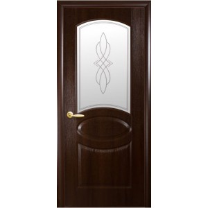 "Дверь межкомнатная ""ФОРТИС DELUXE Р"" Фортис R Овал стекло"