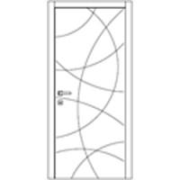 Дверь Омис Геометрия 02 белый silk matt