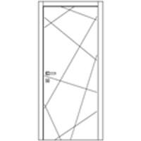 Дверь Омис Геометрия 03 белый silk matt