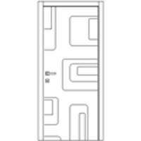 Дверь Омис Геометрия 04 белый silk matt