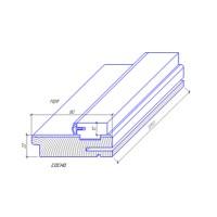 Коробка ТМ DOORS МДФ Телескоп. Д/40 рейка с упл. [сосна+мдф] Экошпон