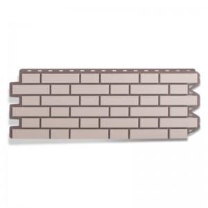Сайдинг фасадный «Клинкерный кирпич», белый