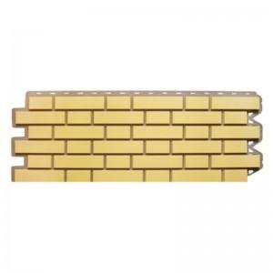 Сайдинг фасадный «Клинкерный кирпич», желтый