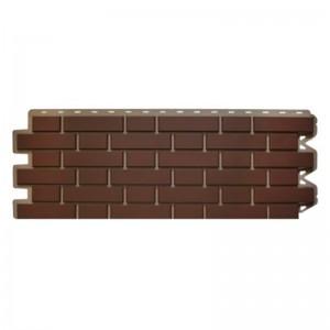 Сайдинг фасадный «Клинкерный кирпич», коричневый