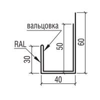 """Планка наличника к фасадной панели """"Комплект"""" ТермаСтил, 250"""