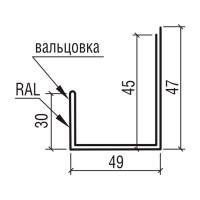"""Планка наличника к фасадным панелям """"Оригинал"""" ТермаСтил, 250"""
