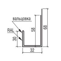 """Планка наличника к фасадной панели """"Дежавю"""" ТермаСтил, 250"""
