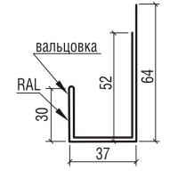 """Планка наличника к фасадной панели """"Стрейт"""" ТермаСтил, 250"""