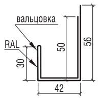 """Планка наличника к фасадной панели """"Сити"""" ТермаСтил, 156"""