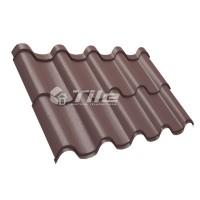 Металлочерепица Tile Premium (Тайл Премиум) RAL 8017