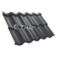 Металлочерепица Tile Modern (Тайл Модерн) модульная RAL 9005