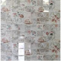Пластиковая Панель Пластмаркет кафельная плитка Романтика 960 * 485мм