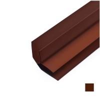 Угол ПВХ внутренний коричневый Riko (Рико)