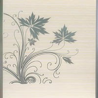 Панель ПВХ Dom Plast (Дом Пласт) 250х7х6000 Термоперевод Серебряный цветок