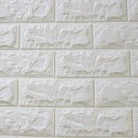 Панель стеновая 3D Sticker Wall (Стикер Вол) Белый (кирпич)