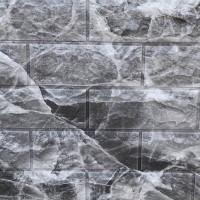 Панель стеновая 3D Sticker Wall (Стикер Вол) Мрамор чёрный (кирпич)