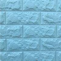 Панель стеновая 3D Sticker Wall (Стикер Вол) Бирюзовый (кирпич)