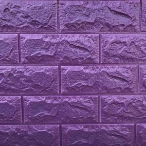 Панель стеновая 3D Sticker Wall (Стикер Вол) Фиолетовый (кирпич)