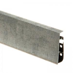 Плинтус ПВХ с кабель-каналом Cezar Hi-Line Prestige (Цезарь Хай-Лайн Престиж) M253 Темно-серый камень