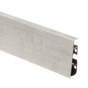 Плинтус ПВХ с кабель-каналом Cezar Hi-Line Prestige (Цезарь Хай-Лайн Престиж) M256 Серый камень