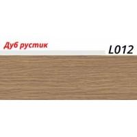 Плинтус LinePlast (ЛайнПласт) с мягким краем, матовый, L012 Дуб рустик