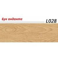 Плинтус LinePlast (ЛайнПласт) с мягким краем, матовый, L028 Бук анданте