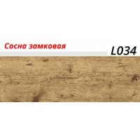 Плинтус LinePlast (ЛайнПласт) с мягким краем, матовый, L034 Сосна замковая
