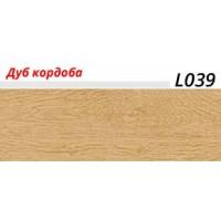 Плинтус LinePlast (ЛайнПласт) с мягким краем, матовый, L039 Дуб кордоба
