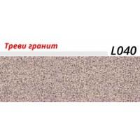 Плинтус LinePlast (ЛайнПласт) с мягким краем, матовый, L040 Треви гранит