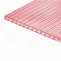 Сотовый поликарбонат Greenhouse Nano 4 мм прозрачный с розовым оттенком