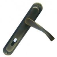Ручка дверная CORONA STL Yale 85 mm FUME (GP/BN)