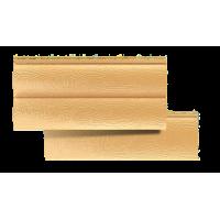 Сайдинг виниловый Альта-профиль блок хаус, двухпереломный, цвет золотистый