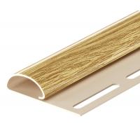 Финишный профиль для сайдинга, 3 м, цвет зрелый каштан