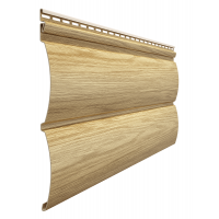 Сайдинг виниловый Docke Blockhaus Lux D4,7T, цвет зрелый каштан