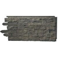 Сайдинг фасадный Novik (Новик), Рваный камень, Smoke Gray