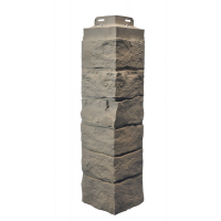 Сайдинг фасадный Novik, Рваный камень, угол, все цвета
