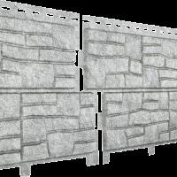 Сайдинг Ю-пласт Фасадные панели Стоун Хаус Сланец Светло-серый