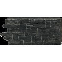 Сайдинг фасадный Novik (Новик), Рваный камень, Onyx