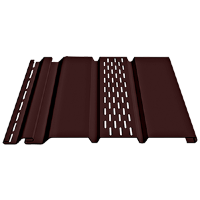 Соффит Docke (Дёке) Т4 с центральной перфорацией, Цвет каштан