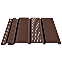 Соффит Docke (Дёке) Т4 с центральной перфорацией, Цвет шоколад